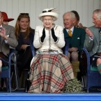 Must have been a bit cold for Queen Elizabeth at the Braemar Royal Highland Gathering.<span class=