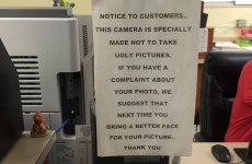 This photobooth notice is just way too sassy for you