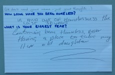 In your own words: Homeless people answer questions on their biggest fears
