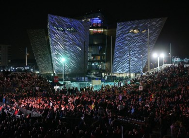 16,000 fans packed the outdoor arena in Belfast's Titanic Quarter on Saturday night.