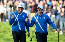 McIlroy, Garcia rally late for Ryder Cup halve