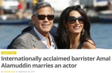 Here's the single best headline about George Clooney and Amal Alamuddin's wedding