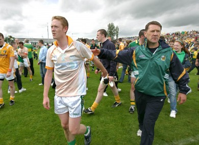 Jack O'Connor and Colm Cooper after Kerry's 2009 qualifier against Antrim.