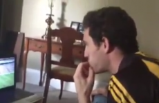 Kilkenny fan's brilliant reaction watching the end of yesterday's match from Canada