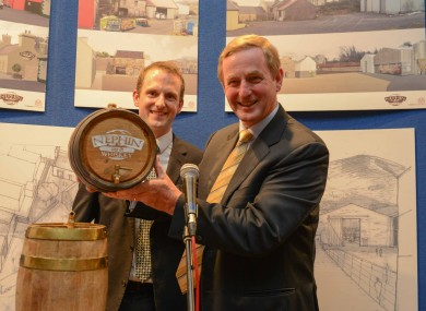 Enda Kenny with Nephin sales director Mark Quick at the company launch this summer.