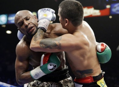 Maidana had a point deducted for using his forearm in the tenth round.