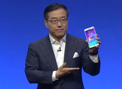 Samsung president, DJ Lee, reveals the latest edition to the Galaxy range, the Note 4.