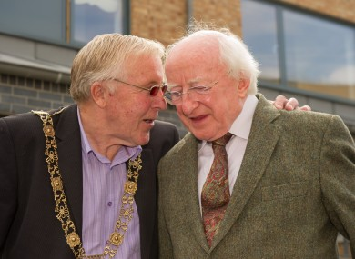 President Higgins with Dublin Lord Mayor Christy Burke