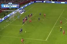 Juan Roman Riquelme curled in another majestic free-kick last night