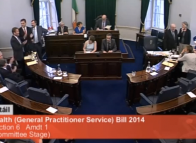 The government losing a vote in the Seanad last July