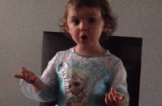 Two-year-old from Belfast sees red when her Frozen solo is interrupted