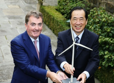 Glen Dimplex CEO Sean O'Driscoll with former Japanese prime minister Naoto Kan.