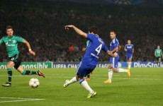 Hazard set up Fabregas with a delicious reverse pass for his first Chelsea goal