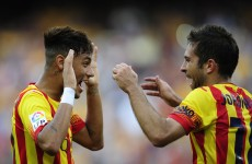 Neymar double continues Barca's perfect start
