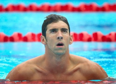 Olympic swimming champion Michael Phelps.