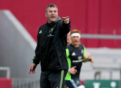 Foley is hopeful that tomorrow is the beginning of a strong run of wins for Munster.
