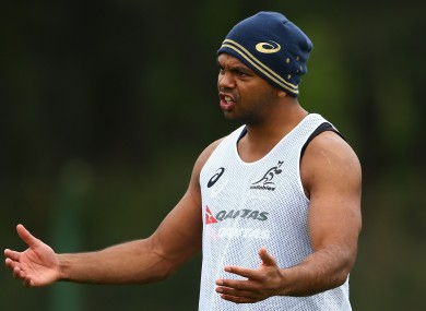 Australian rugby union player Kurtley Beale.