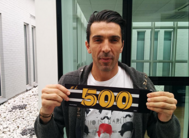 Buffon tweeted this picture of his special captain's armband for tonight's match.
