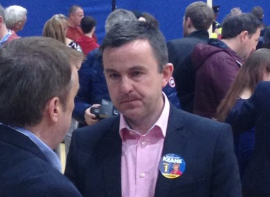 Brian Hayes at the count centre in Tallaght this morning