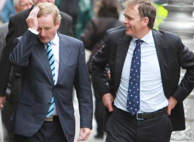 Taoiseach and Fine Gael leader Enda Kenny and Minister of State Joe McHugh