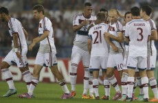 What's the Italian for 'hammering'? It's Roma 0-5 Bayern Munich (and it's only half time)