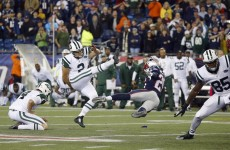 Patriots v Jets decided by 58-yard field goal attempt on the final play