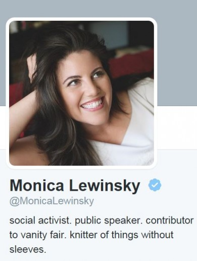 Monica Lewinsky joins Twitter and launches a mission to end cyberbullying