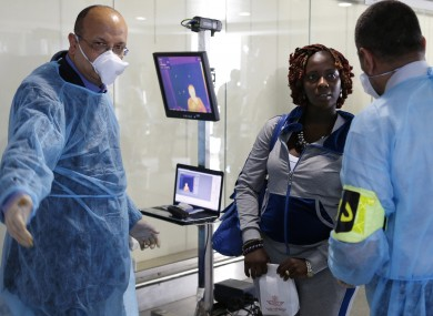 Ebola screening in an Moroccan airport