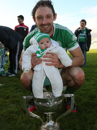 Paudie and Fiadh O'Brien celebrate after the game.