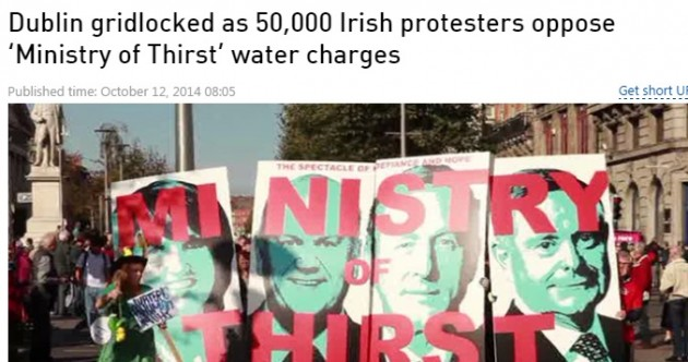 Ireland's water charges protest made the international headlines