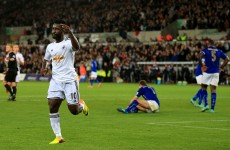Two goals from Wilfried Bony helps Swansea to win over Leicester