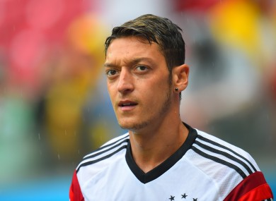 Özil has scored 18 goals in 62 appearances for Germany.