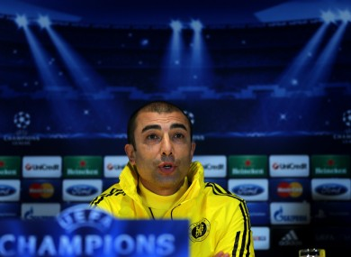 Di Matteo won the Champions League with Chelsea in 2012.