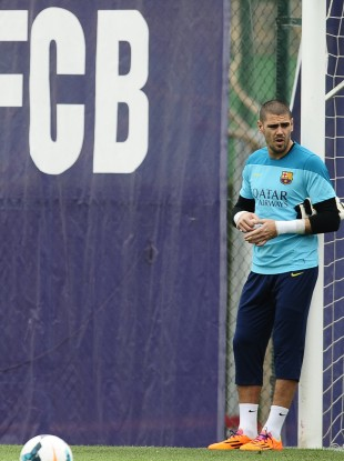Valdes has won three Champions League medals.