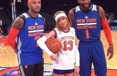 Taylor Swift shows her support for the Knicks and hangs out with a less-than impressed Carmelo