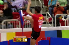 A pro table tennis player cost himself $45,000 for a ridiculous celebration