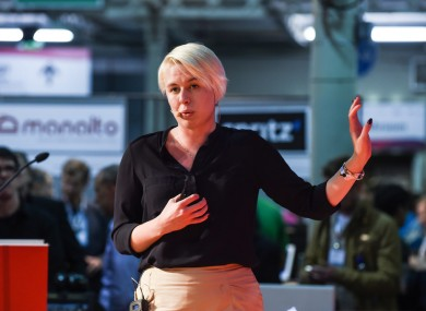 Restored Hearing's CTO Eimear O'Carroll pitching at this year's Web Summit.