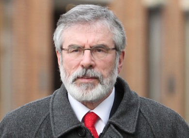 Sinn Féin leader Gerry Adams