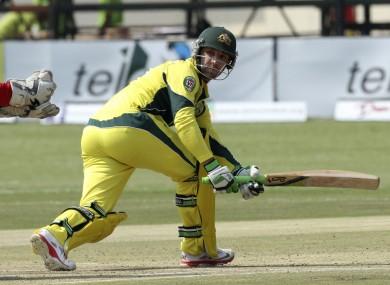 Australian cricketer Phil Hughes was struck by a bouncer.
