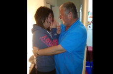 Irish girl freaks out after dad travels to Canada for surprise visit