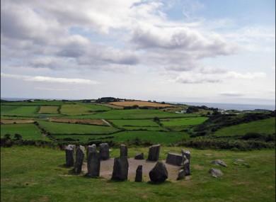Bronze Age Drombeg Stone Circle in Co Cork