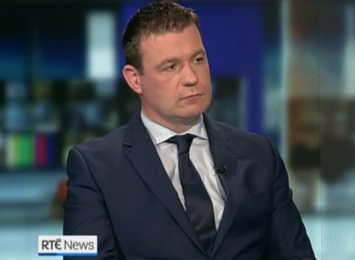 The Environment Minister Alan Kelly on the Six One News tonight.