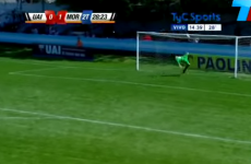 Oh nothing, just a goalkeeper bicycle kicking a 50-yard lob off the line