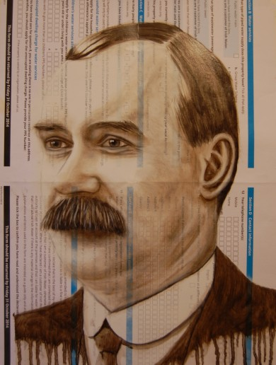Check out this amazing portrait of James Connolly … on an Irish Water registration pack