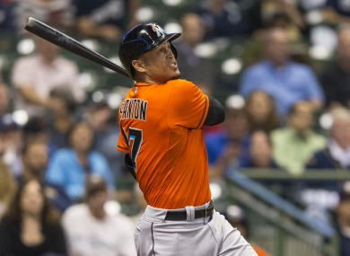 Giancarlo Stanton will be getting the rounds in from now on.
