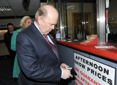 Michael Noonan places a bet on Fine Gael's Helen McEntee during the Meath East by-election.