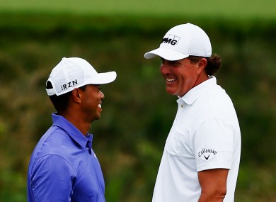 Rivals: Tiger Woods and Phil Mickelson.