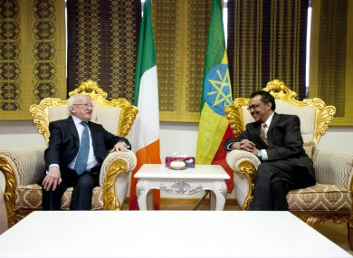 President Michael D Higgins Addis Ababa Airport, Ethiopa with H.E. Dr Tedros Adhanom, Ethiopian Minister of Foreign Affairs
