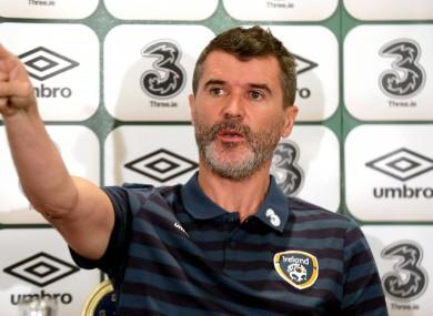 Assistant boss Roy Keane yesterday.