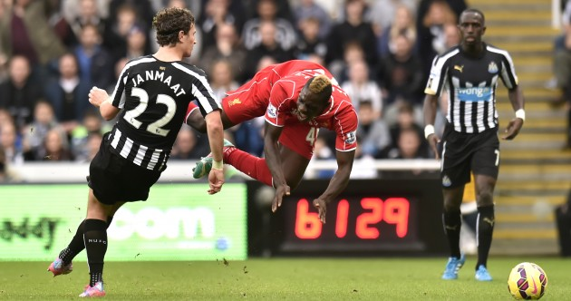 Darryal Janmaat just tried to kick Mario Balotelli into space